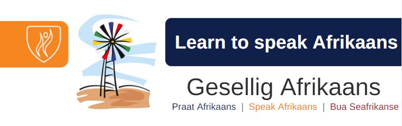 Gesellig Afrikaans banner
